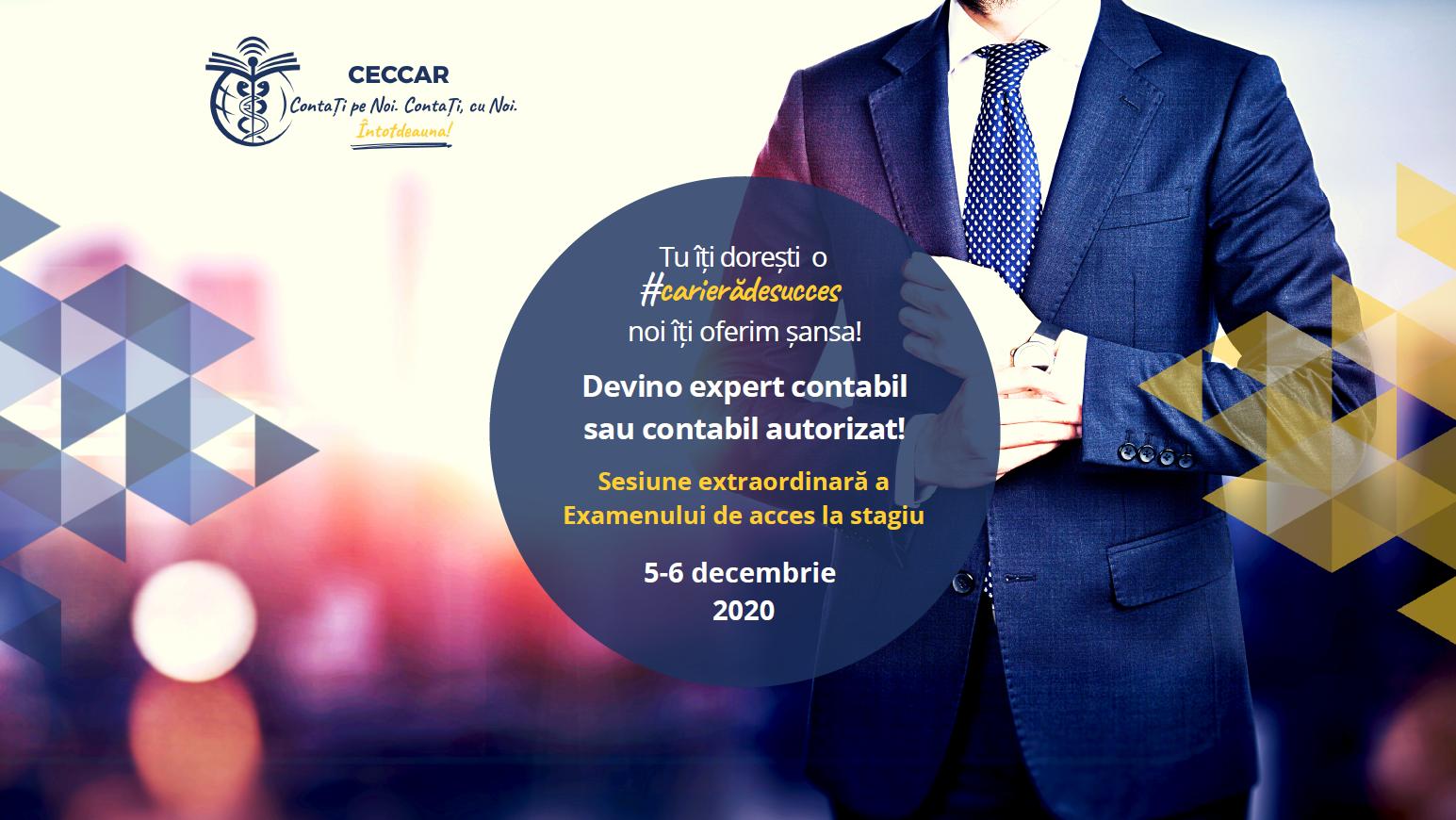 Sesiune extraordinara Examen de acces CECCAR decembrie 2020