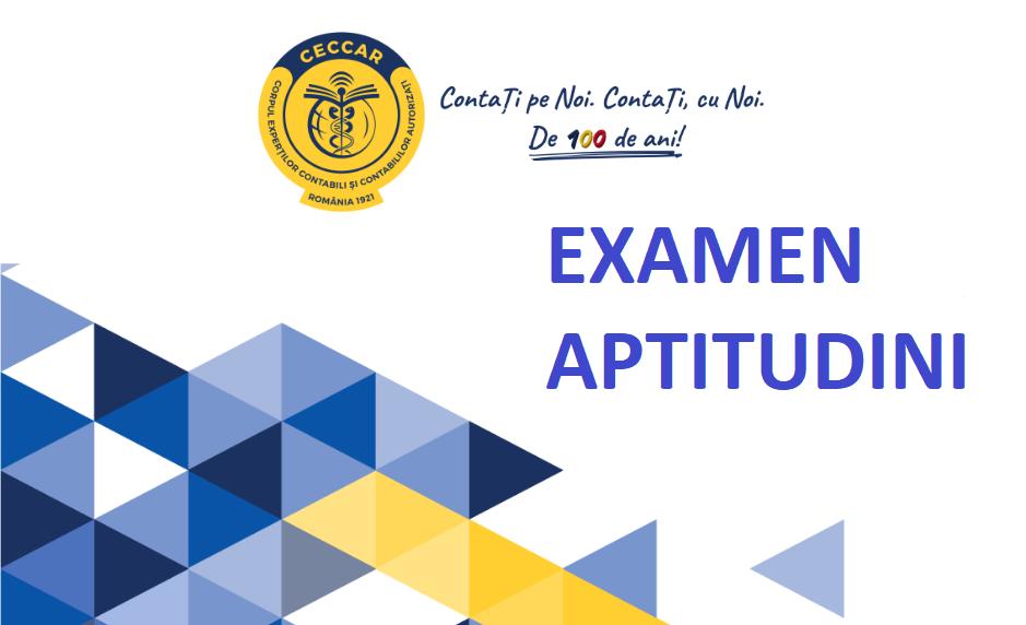 Examen aptitudini